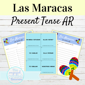 Spanish Present Tense AR verbs, los verbos -AR: Maracas Game