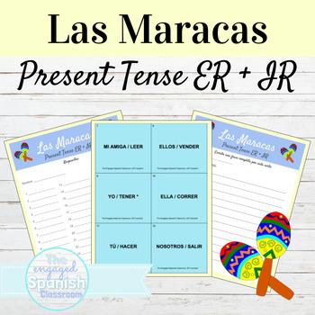 Spanish Present Tense ER and IR Verbs Maracas Activity