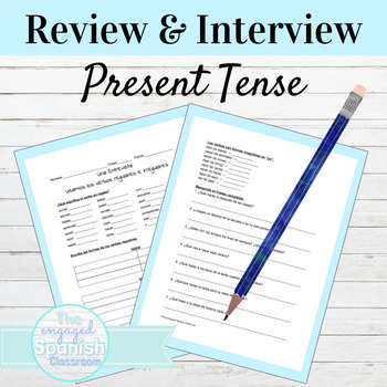 Spanish Present Tense Interview Activity