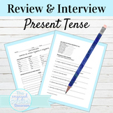 Spanish Present Tense Interview Activity