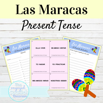 Spanish Present Tense, El Presente -AR -ER and -IR verbs: Maracas Game