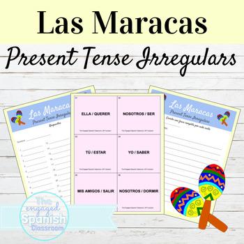Spanish Stem Changing Verbs and Irregular Yo verbs: Maracas Game