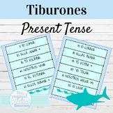 Spanish Present Tense Tiburones Speaking Activity