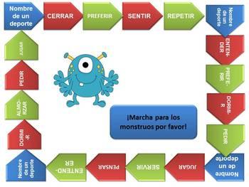 Spanish 1 Present tense stem changing verbs GAME
