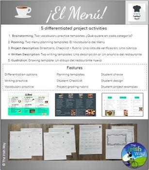 El Menú - Proyecto - Creating a Restaurant Menu - Spanish 1 & 2