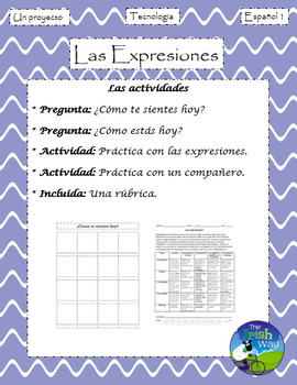 Las Expresiones - Proyecto - Creating a Poster of Expressions - Spanish 1