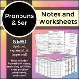 Spanish 1 - Pronouns and Ser - Worksheets and Notes