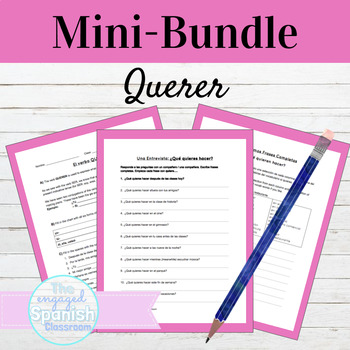 Spanish 1 QUERER MINI BUNDLE: Guided Notes, Practice, & Interview