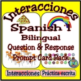 Spanish 1 Question and Response Prompt Card Pack - Multi-tópico