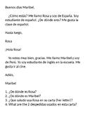 Spanish 1 Reading Activity Basics