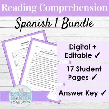 Spanish 1 Reading Comprehension BUNDLE