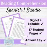Editable Spanish 1 Reading Comprehension BUNDLE | Readings