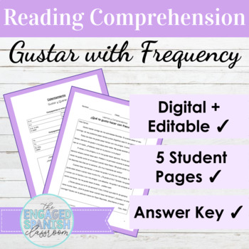 Spanish Gustar Reading Comprehension Packet