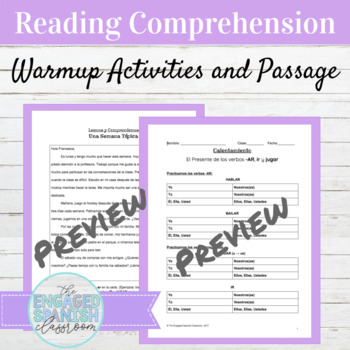 spanish ar verbs ir and jugar reading comprehension packet. Black Bedroom Furniture Sets. Home Design Ideas