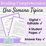 Editable Spanish Present Tense Reading and Activities | AR