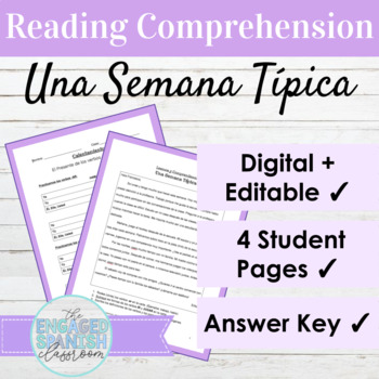 Spanish 1 Reading Comprehension: Expresate 1 Chapter 3 -AR