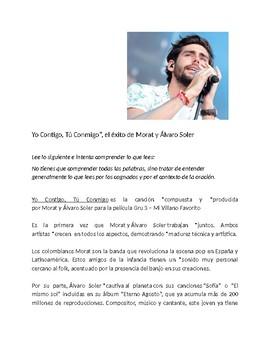 Spanish 1 + Reading and Song with present tense - Yo contigo, Tú conmigo