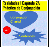 Spanish 1 Realidades 1 chapter 2A -AR Verb Conjugation Practice