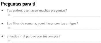 Spanish 1 - Realidades 1 - Cap. 4A - Demasiadas preguntas (TPRS Story)