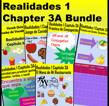 Spanish 1 Realidades 1 Chapter 3A Bundle