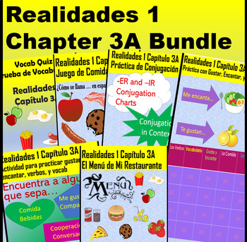 Spanish 1 Realidades 1 Chapter 3A Bundle with Vosotros