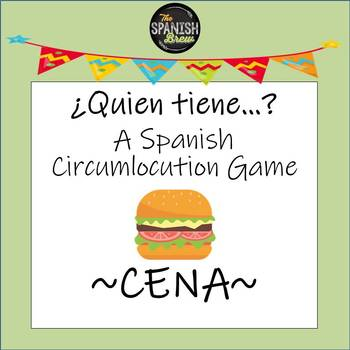 Spanish 1 Realidades 3A Card Games for circumlocution: Cena