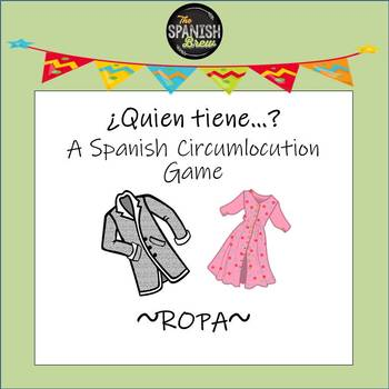 Spanish 1 Realidades 7A Card Games for circumlocution: La ropa, clothing