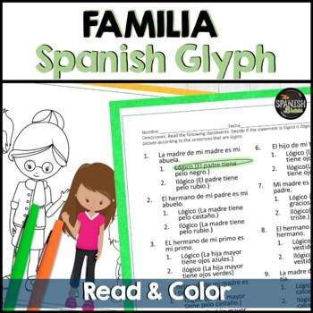 Spanish 1 (Realidades) La FAMILIA reading and coloring activity