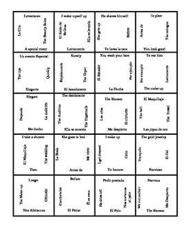 Spanish 2 - Realidades - Tema 2A - Vocabulary Review Puzzle