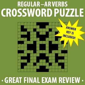 Spanish 1 - Regular -AR Verbs Crossword Puzzle