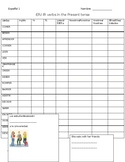 Spanish 1 Regular -ER/ -IR Verb conjugation chart