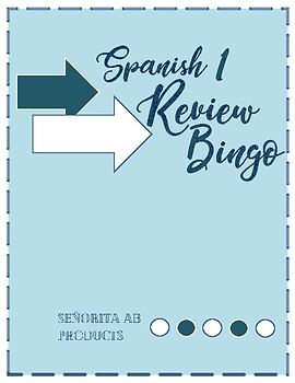Spanish 1 Review Bingo