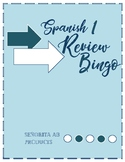 Spanish 1 Review Bingo