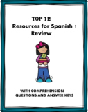 Spanish 1 Review Bundle: 10 Resources at 40% OFF!