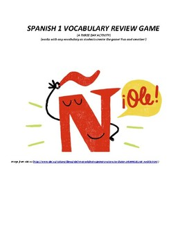 Spanish 1 Review Game