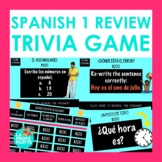 Spanish 1 Review Jeopardy-style Trivia Game | End of Year