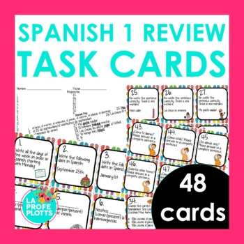 Spanish 1 Review Task Cards