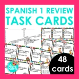 Spanish 1 Review Task Cards   Back to School, End of Year Review Activity
