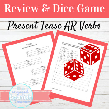 Spanish Present Tense AR Verbs Review and Dice Activity