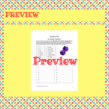 Spanish QUERER Review and Dice Games: Exprésate 1 Chapter 3