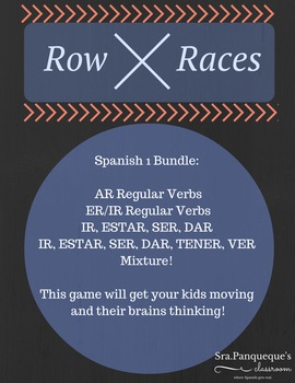 Spanish 1: Row Race Verb Conjugation Bundle