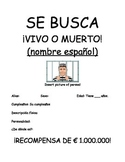 Spanish 1 - Se busca (Wanted) poster project