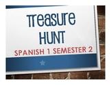 Spanish 1 Semester 2 Treasure Hunt