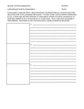Spanish 1 Semester Writing Assessment