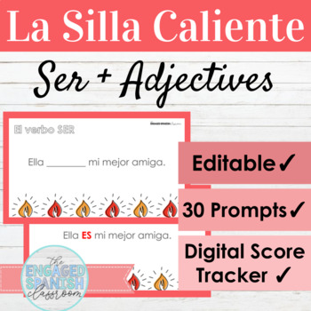 Spanish Ser Subject Pronouns and Adjective Agreement Hot Seat Game