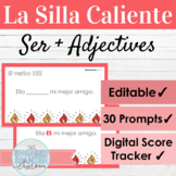 EDITABLE Spanish Ser and Adjectives Hot Seat Game   La Sil