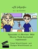 "Spanish 1+ Short Story ""El bolígrafo"" FVR Unique Words 38+"