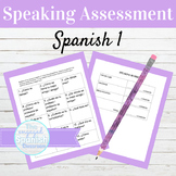 Spanish 1 Speaking Assessment Cards