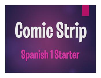 Spanish 1 Starter Comic Strip
