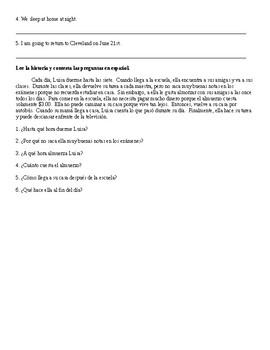 Spanish 1: Stem-Changing Verb Sheets